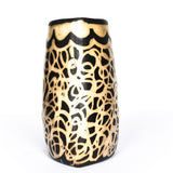 Lenca handmade black and cream accent vase