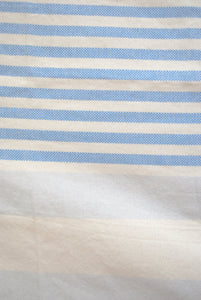 striped blue turkish towel