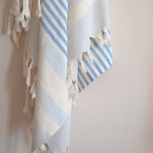 Sankaty Striped Blue Turkish Towel