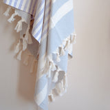 cape cod striped turkish towel in lilac