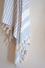 Load image into Gallery viewer, cape cod striped turkish towel in lilac