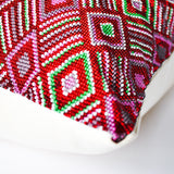 Guatemalan hand beaded pillow