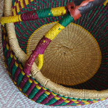 Load image into Gallery viewer, Straw Basket Crafted in Ghana