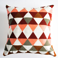 Load image into Gallery viewer, Guatemalan beaded pillow with diamond design