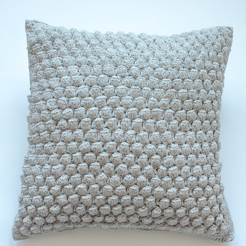 pebbled 20x20 gray accent pillow alternative down insert included
