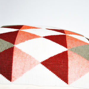 beaded accent pillow handmade in Guatemala