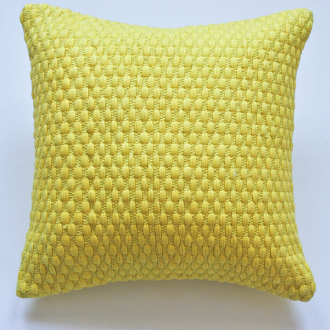 Bright Yellow modern design accent pillow alternative down insert included