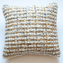 Load image into Gallery viewer, mustard wool modern accent pillow alternative down insert included