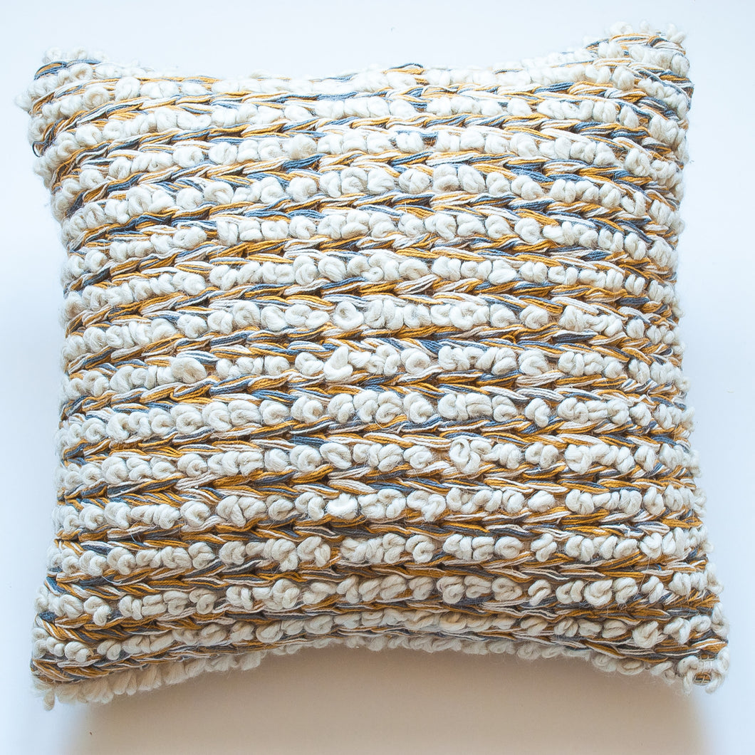 mustard wool modern accent pillow alternative down insert included