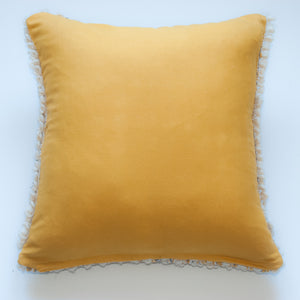 wool mustard modern accent pillow alternative down insert included