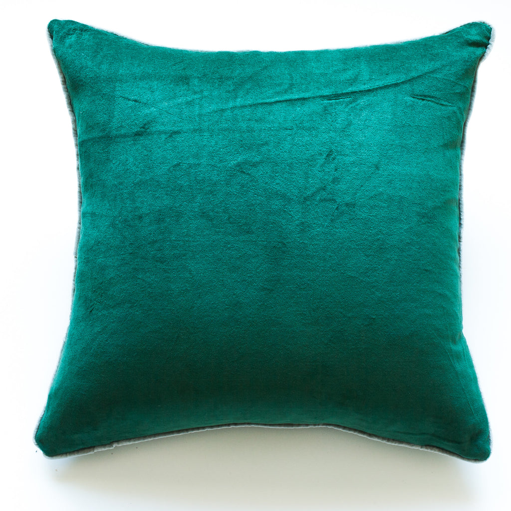 emerald green velvet accent pillow alternative down insert included