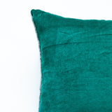 emerald green soft velvet accent pillow alternative down insert included
