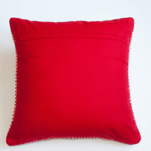 Load image into Gallery viewer, Red and white dotted accent pillow alternative down insert included