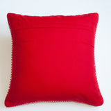 Red and white dotted accent pillow alternative down insert included