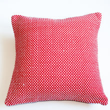 Load image into Gallery viewer, red and white 22x22 accent pillow alternative down insert included