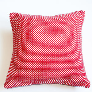 red and white 22x22 accent pillow alternative down insert included