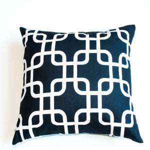 Black and White 18x18 Accent Pillow