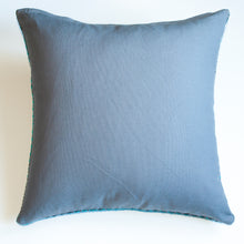 Load image into Gallery viewer, emerald and grey 20x20 accent pillow alternative down insert included