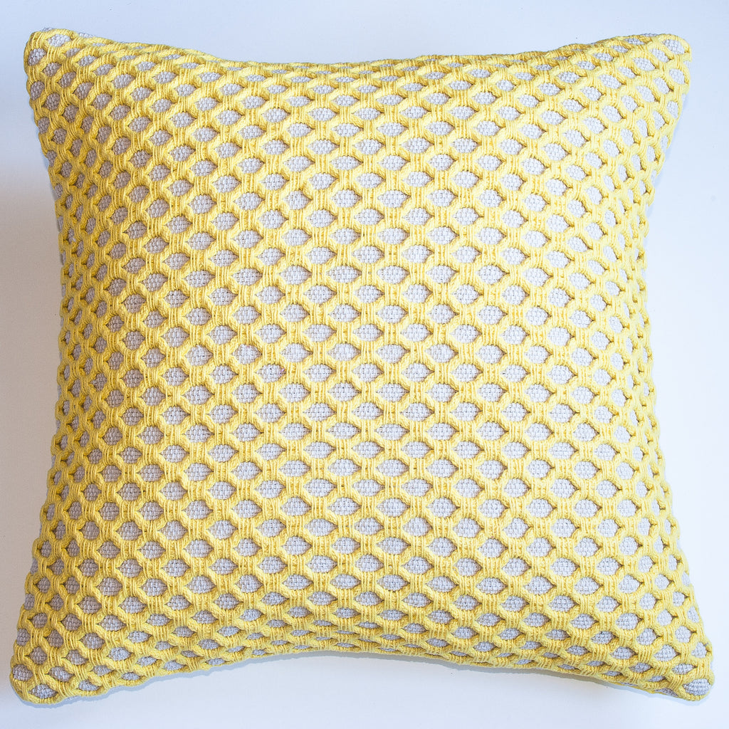 modern design yellow accent pillow alternative down insert included