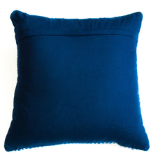 Load image into Gallery viewer, navy blue with modern design accent pillow alternative down insert included