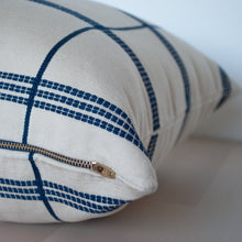 "Load image into Gallery viewer, Cuadros 20"" x 20"" White and Blue Stripes Pillow Cover"