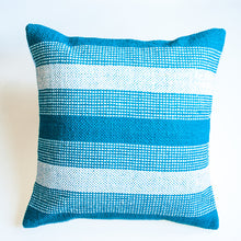 Load image into Gallery viewer, blue jay striped accent pillow alternative down inserted