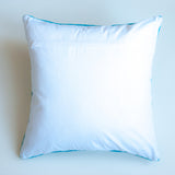 blue jay striped accent pillow alternative down insert included