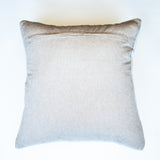 neutral striped beige accent pillow with alternative down insert