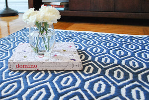 Blue Diamond Accent Rug