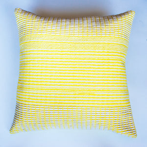 modern pattern yellow accent pillow alternative down insert included