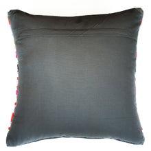 Load image into Gallery viewer, bright striped red gray and pink accent pillow alternative down insert included