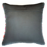 bright striped red gray and pink accent pillow alternative down insert included