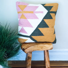 Load image into Gallery viewer, Geo Pink and Yellow Accent Pillow