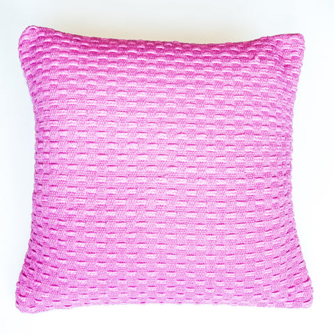 bright pink with modern design accent pillo alternative down insert included