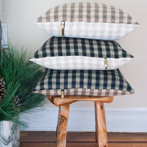 Plaid Check Accent Pillow N.1