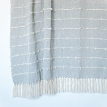 Load image into Gallery viewer, Nudos Neutral Gray and Cream Throw Blanket