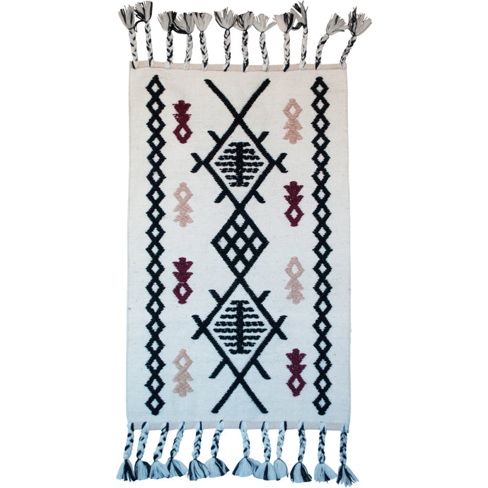 Tribal Neutral Accent Rug