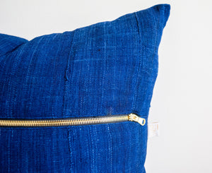 Indigo Blue Throw Pillow 20x20