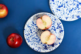 Enamel Tea Plate in White and Navy Blue by Meraki Home Accents