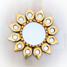 Load image into Gallery viewer, Wall Decor Sunflower Mirror Handmade in Peru