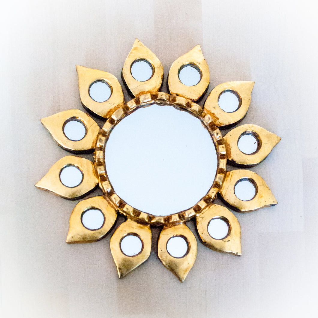 Wall Decor Sunflower Mirror Handmade in Peru
