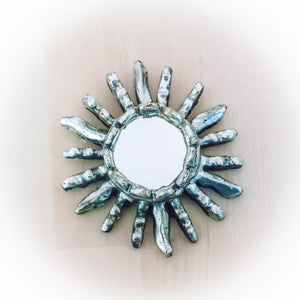 Silver Mini Decorative Mirror Handcrafted in Peru