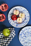 B&B Small Enamel Plates in Navy Blue by Meraki Home Accents