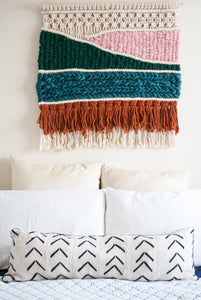 Macrame Headboard - Fiber Wall Art