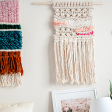 Load image into Gallery viewer, Macrame Wall Hanging in Pink