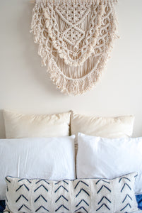 Large Natural Macramé Wall Hanging - Fiber Art