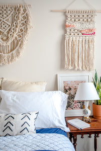 Macrame Wall Hanging in Pink