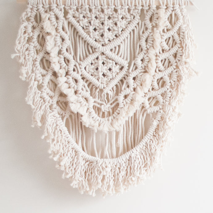 Large Natural Macrame Wall Hanging - Fiber Art