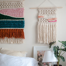 Load image into Gallery viewer, Macrame Headboard - Fiber Wall Art