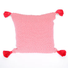 Load image into Gallery viewer, cheerful pink peruvian handmade accent pillow